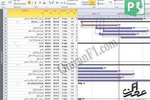 برنامه زمانبندی پروژه شبکه فاضلاب